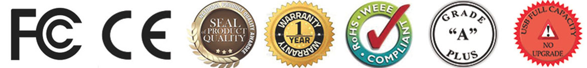 Certificados de calidad en Memorias USB