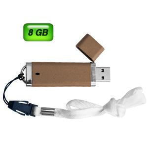USB LUXURY NATURAL. Capacidad 8GB.