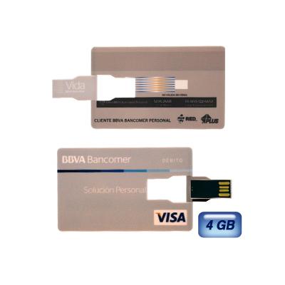 Memoria USB Tarjeta S�per Slim. 4 GB de capacidad.