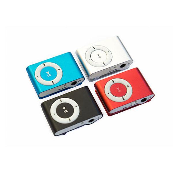 REPRODUCTOR MP3 COLOR AZUL. NEGRO. ROJO Y PLATA