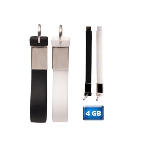 Memoria USB Llavero de silicón. capacidad de 4 GB
