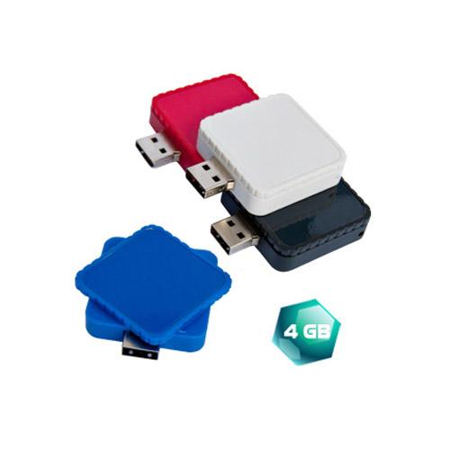 USB Cuadrada giratoria de 4 GB.