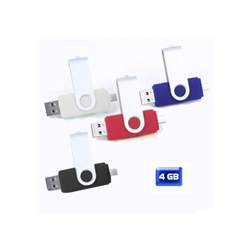 USB giratoria con entrada a celular 4 GB. Sobre pedido.