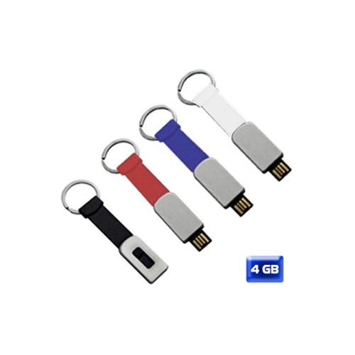 USB llavero silicón slim retráctil 4 GB. Sobre pedido.