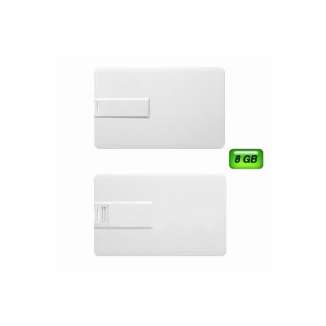 Memoria USB Tarjeta con 8 GB.