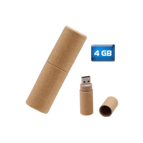 USB ecol�gica tubo de cart�n reciclado 4 GB.