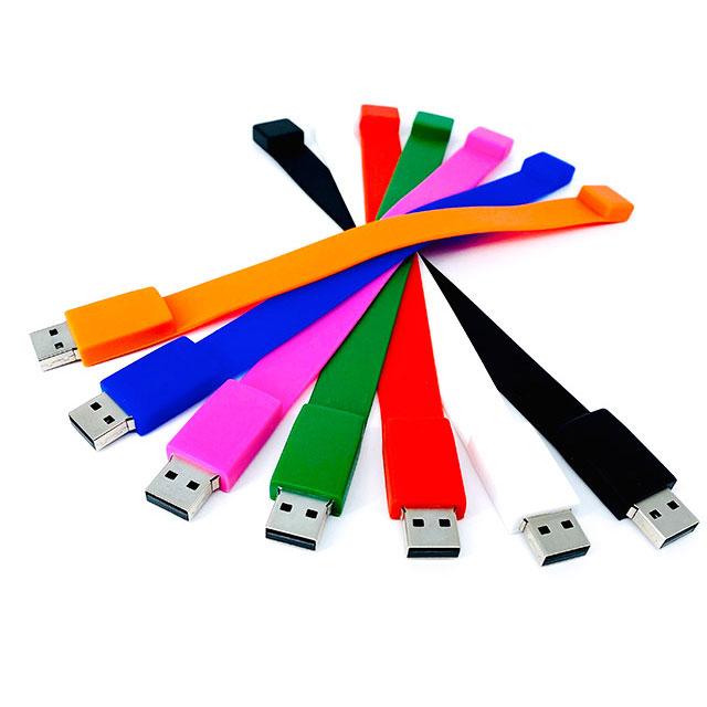 USB Pulsera de Silic�n 4 GB de capacidad. Tiempo de entrega: de 24 a 48 horas.