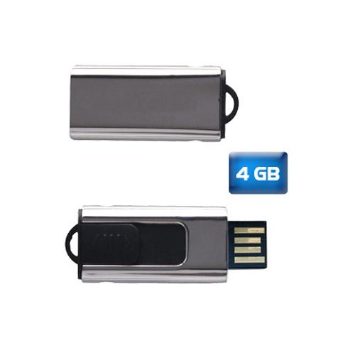 USB Slim retráctil 4 GB. Tiempo de entrega: de 24 a 48 horas.