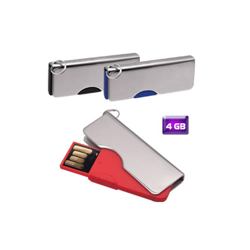 Memoria USB llavero giratoria 4 GB.