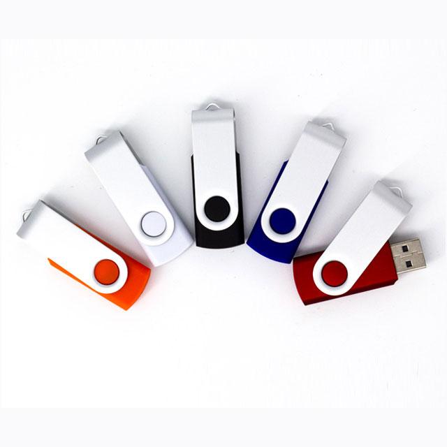 Memoria USB Giratoria London 2 GB. Incluye cordón del mismo color de la memoria.