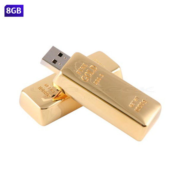 USB Lingote 8GB. Tiempo de entrega: de 24 a 48 horas.