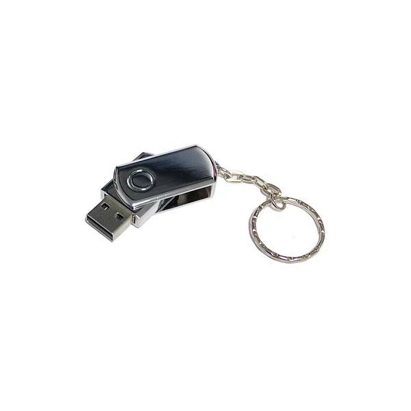 USB GIRATORIA METÁLICA CON LLAVERO 8GB