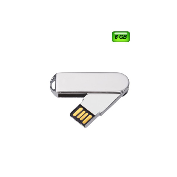 USB GIRATORIA MET�LICA 8GB