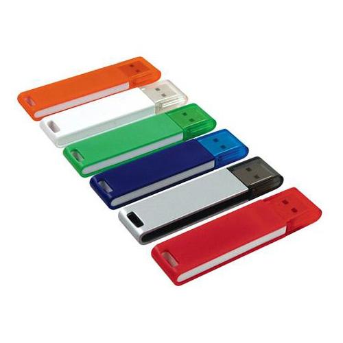 Memoria USB rectangular de Plastico con tapa.