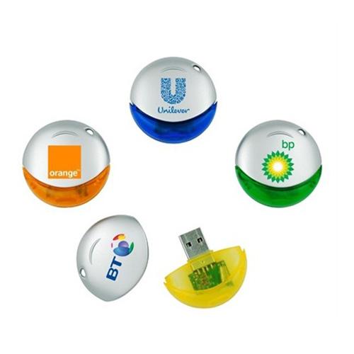 Memoria USB rodonda de Plastico con tapa.
