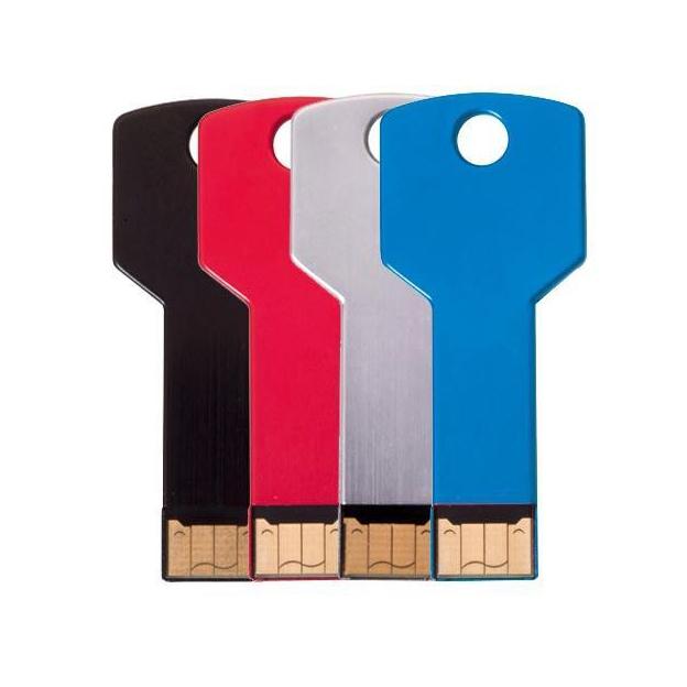 Memoria USB en forma de llave clásica para llevar de forma discreta en su llavero.