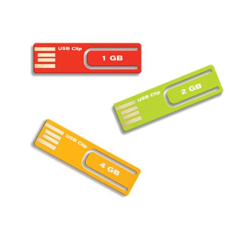 Memoria USB plastica slim con clip.
