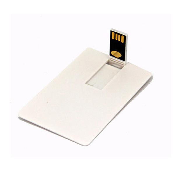 Memoria USB de tarjeta con sistema plegable.